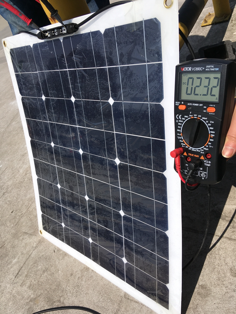 MONO 20V 50W Solar Panel Flexible Solar Panel Solar Cell for RV Marine Boat 12V Battery Solar Charger 550*540*5