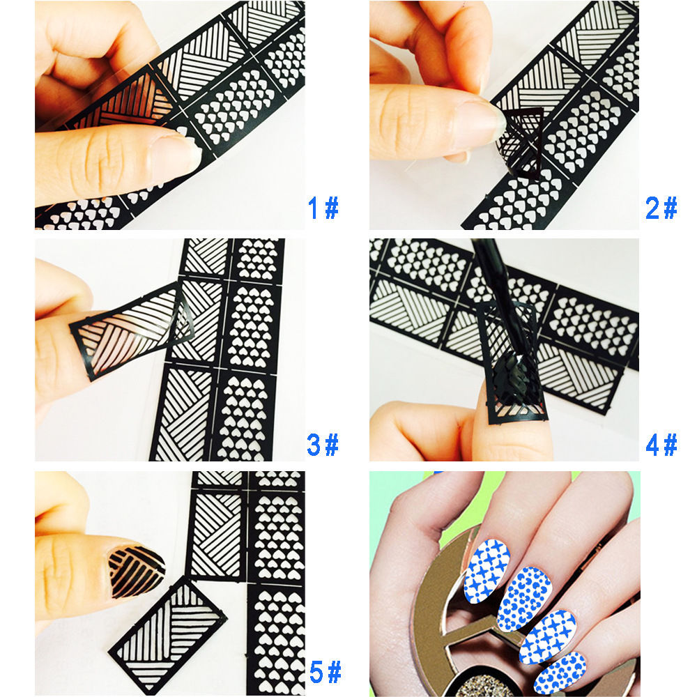 New easy use nail art stamping template stencils stamp guide new easy use nail art stamping template stencils stamp guide reusable tips vinyls guides nail design stickers in stickers decals from beauty health on prinsesfo Images