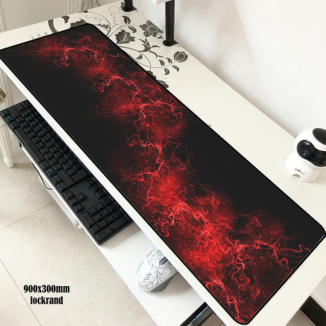 Abstract Red mousepad gamer 900x300x3mm gaming mouse pad best notebook pc accessories Christmas gifts padmouse ergonomic mats