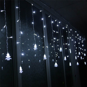 Image 5 - クリスマスライト屋外装飾 5 メートルドループ 0.4 0.6 メートルの Led カーテンつららストリングガーデンクリスマスパーティー装飾ライト