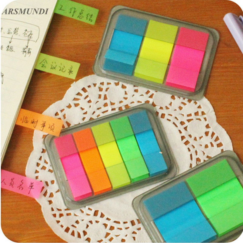 Kawaii Candy Color Sticky Notes Stationery Office Supplies Post It Diy School Stationery Scrapbooking aihao rainbow candy colored stick markers book page index flag sticky notes bookmark office school supplies stationery
