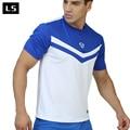 LINGSAI Hot sale 2017 New short sleeve men t shirt Mens Tee Quick Dry Casual T-Shirts Shirt Slim Fit Tops New Shirt LS08