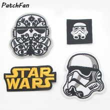 A0110 Star Wars Comics Cartoon Logo Kid Baby Jacket T shirt Patch Sew Iron on Embroidered Symbol Badge Cloth Sign Costume