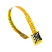 50pcs / lots Micro SIM Card to Nano SIM Kit Male to Female Extension Soft Flat FPC Cable Extender 10cm ,By UPS DHL