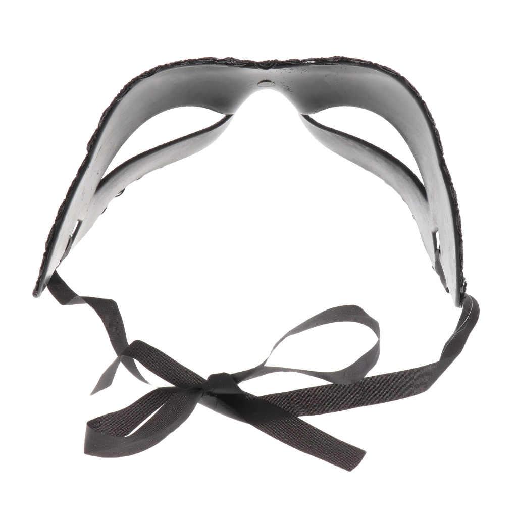 1 sztuk Sexy Ladies maska na bal maskowy weneckie Party maska na oczy zasznurować nowy czarny karnawał przebranie kostium Sexy Party Decor