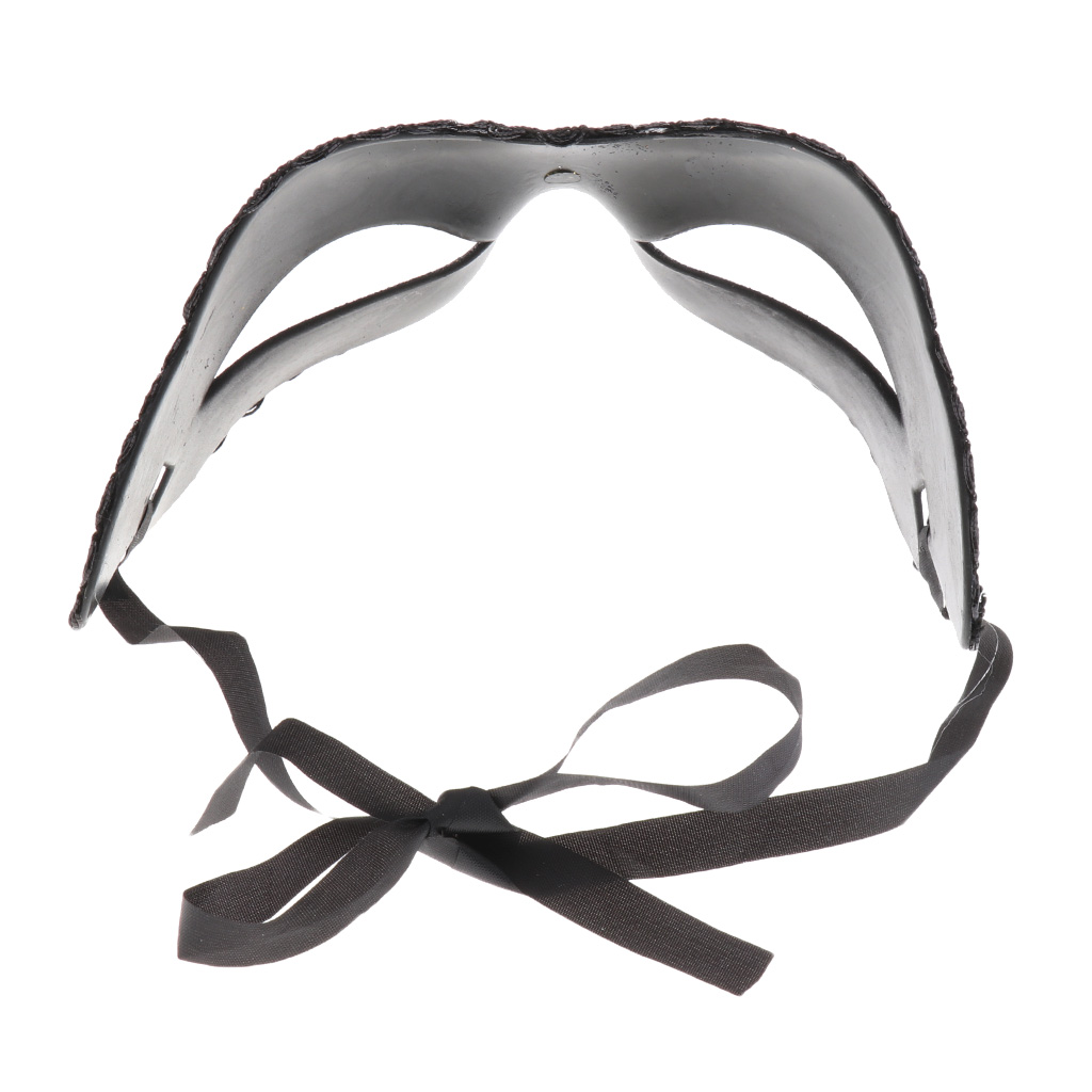 1PCS Sexy Ladies Masquerade Ball Mask Venetian Party Eye Mask Lace Up New Black Carnival Fancy Dress Costume Party Decor in Costume Accessories from Novelty Special Use