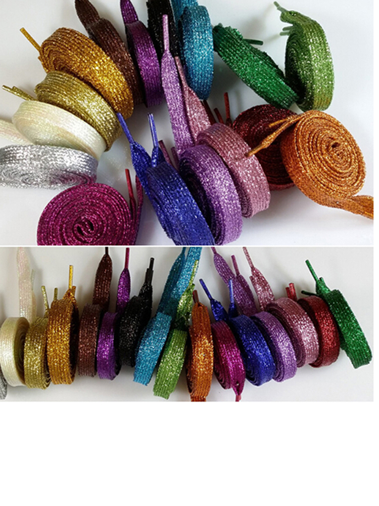 Fashionable Sparkle Bling shoestring Glitter Metallic Pearlescent Shoelaces DIY