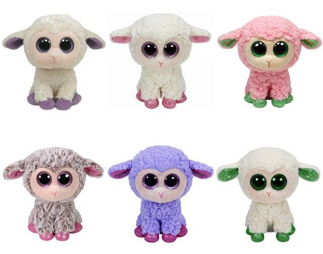 Ty Beanie Boos Lamb Sheep Clover Leyla Daria Twinkle Lavender LaLa Dixie  Plush Toy Cute Big Eyes Stuffed Animal Kids Toys Gifts 4e38271dbd2