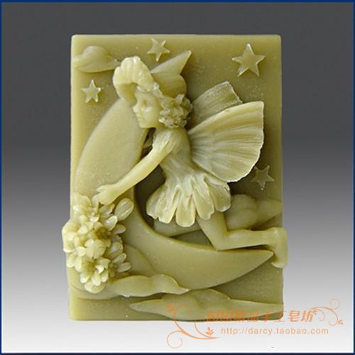 Květinové dítě Lunlun Angel Silikonové mýdlo formy Handmade 3D silikonové formy DIY řemeslné formy S147