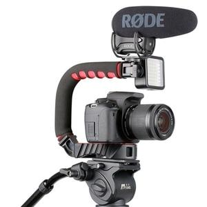 Image 4 - Ulanzi estabilizador con soporte de zapata fría Triple u grip, equipo de agarre para estudio fotográfico con micrófono para Dslr, Nikon, Canon, Smartpho