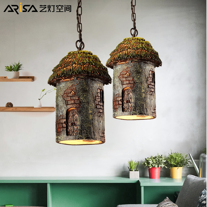 LED Nordic Retro lamps living room Fixture Restaurant hanging lights Bedroom Lighting bar Cafe Iron novelty Pendant Lights vintage nordic iron cage pendant lights led e27 edison bulb pendant ls loft cafe bar restaurant decorative hanging lamps