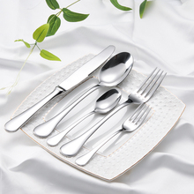 5pcs/set Tableware Western Style Stainless Steel Flatware Set Good Quality Solid Dinnerware Utensils with Storage Box