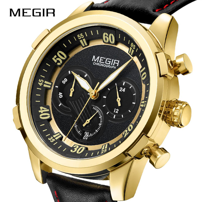 MEGIR Sports Watches Men Top Brand Fashion Military Quartz Wristwatch Chronograph Waterproof Watch Clock Male Relogio Masculino pesenson misha meyer multiscale analysis and nonlinear dynamics from genes to the brain