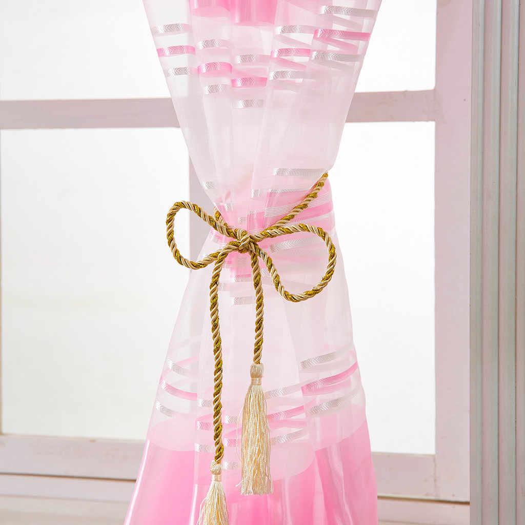 Leaves Sheer Pink Curtain For Living Room Tulle Window Treatment Voile Drape Valance 1 Panel Fabric Gordijnen Verduisterende