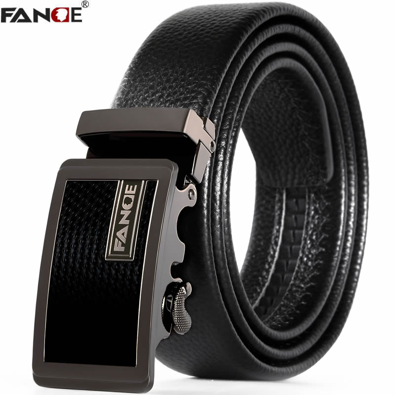 FANGE men   belt   leather   belt   men cowskin casual high quality male Fashion designer jeans chain stretch luxury brand black FG9261