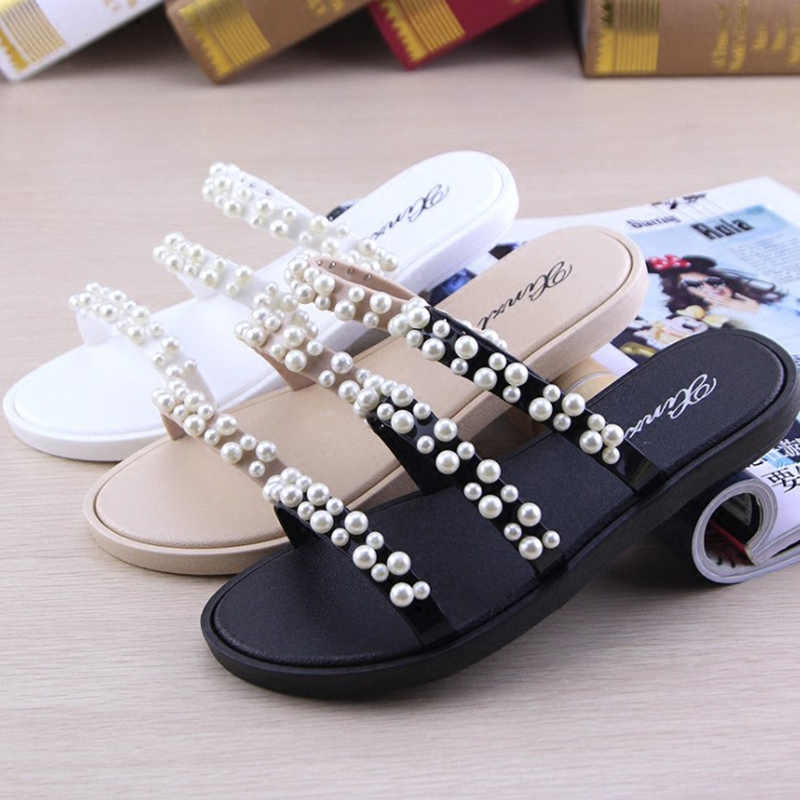 woman narrow band roman sandals feminino string bead open toe gladiator sandals femme summer flip flops rivets studs beach shoes