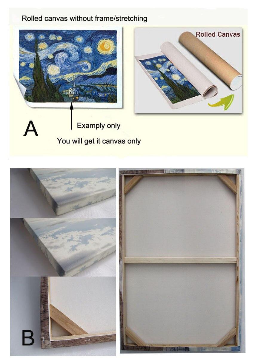 Ручная роспись холст картины для офисного помещения декоративная Масляная картина пейзаж Фреска фотографии для друзей - 5