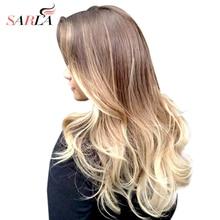 SARLA Ombre բրազիլական երկար հոլովակ մազերի երկարացման համար Խորը ալիք սինթետիկ բարձր ջերմաստիճանի վարսահարդարիչ 888 անվճար առաքում