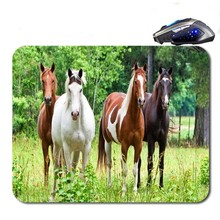 Running Horse Free Shipping Best Price Black Rubber Print Mouse Mat Laptop Computer Gaming Mice Pads For Optical Laster Mats