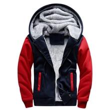 USA SIZE 2017 Men Winter Autumn Blank Pattern European Fashion Bomber Mens Vintage Thick Fleece Jacket Men Winter Jackets Coats
