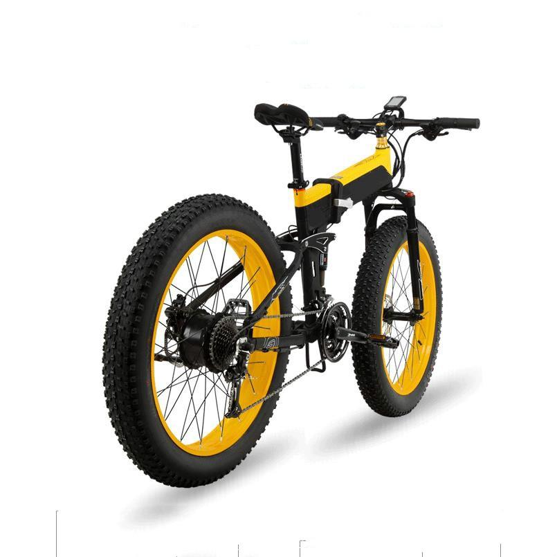 11d48b1a7e4 Αγορά Ποδηλασία | Kalosse Folding frame electric beach bicycle M4000  electric snow bike 8A 48V 350W 27 speed mountain bike