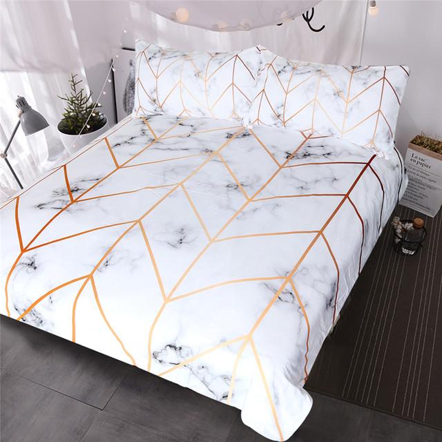 White Marble Bedding Set