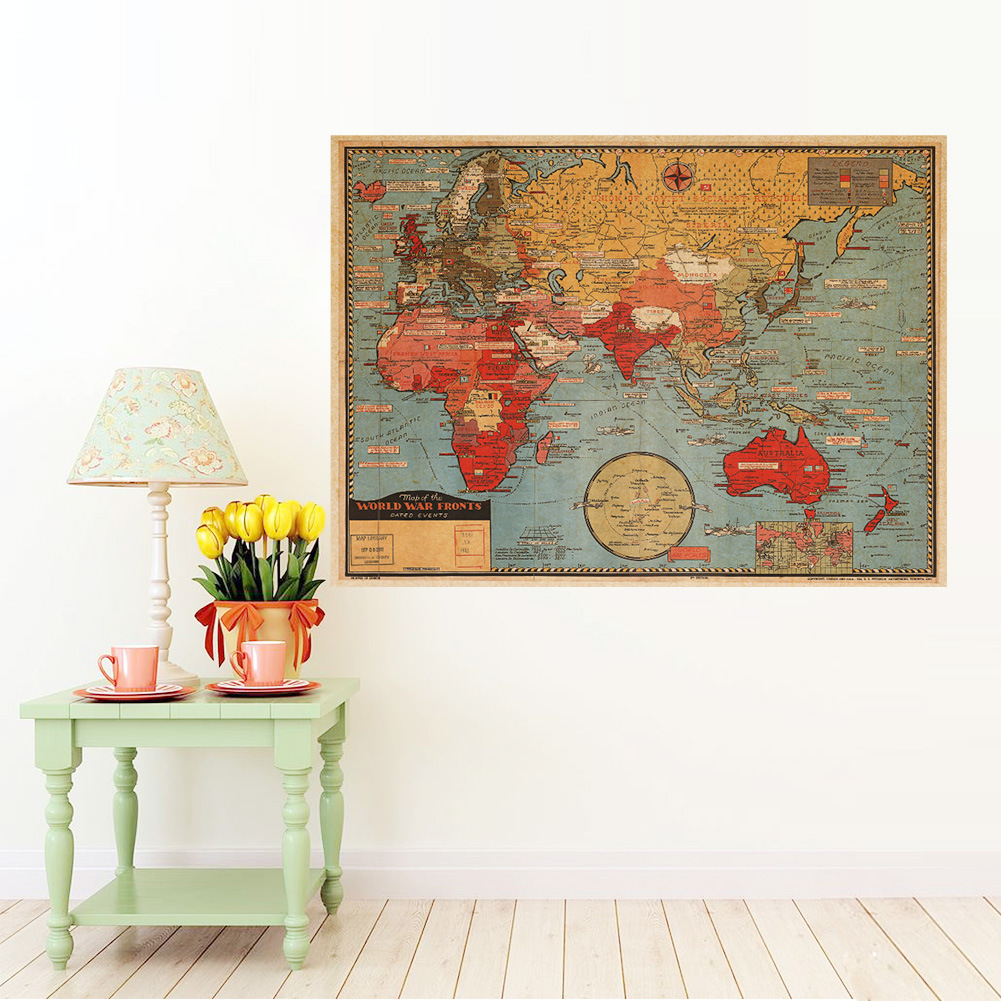 μεγάλος κόσμος Γεωγραφία χάρτης - Διακόσμηση σπιτιού - Φωτογραφία 2