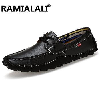 Duży rozmiar 36-47 Slip on męskie buty męskie mokasyny buty z prawdziwej skóry męskie mokasyny buty włoskie buty do jazdy samochodem tanie i dobre opinie Dla dorosłych Przypadkowi buty Skóra bydlęca Gumowe Oddychająca Wysokość zwiększenie Masaż Lace-up AIBU---AC99102