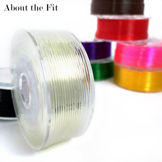 About the Fit 1mm 20M Crystal Elastic Threads Stretch Cords DIY Jewelry Accessories Beading String HandCrafts Findings Lacing 1