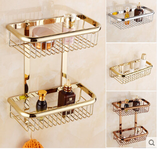 New Arrivals Gold bathroom Corner Shelf Soap Holder Dual Tier bathroom shelves bathroom shampoo holder basket bathroom holder wltoys 12428 12423 1 12 rc car spare parts 12428 0091 12428 0133 front rear diff gear differential gear complete