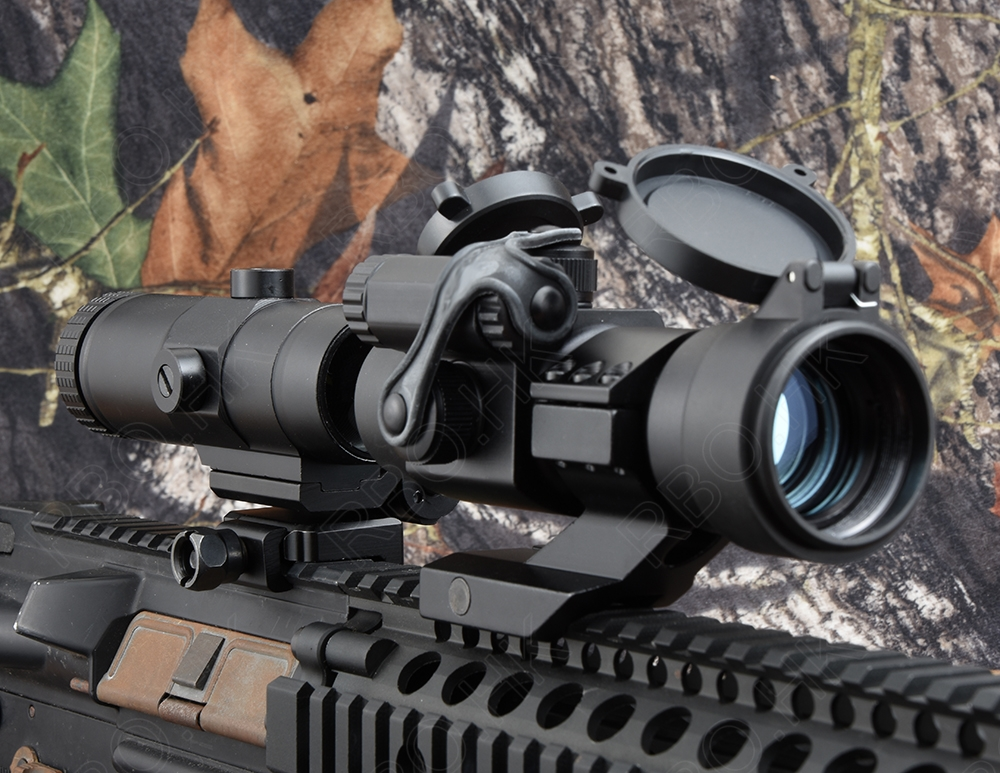 NEW Tactical Red dot sight scope 3x magnifier Up and down regulation Quick Flip Picatinny Rail Mount R4193 стоимость