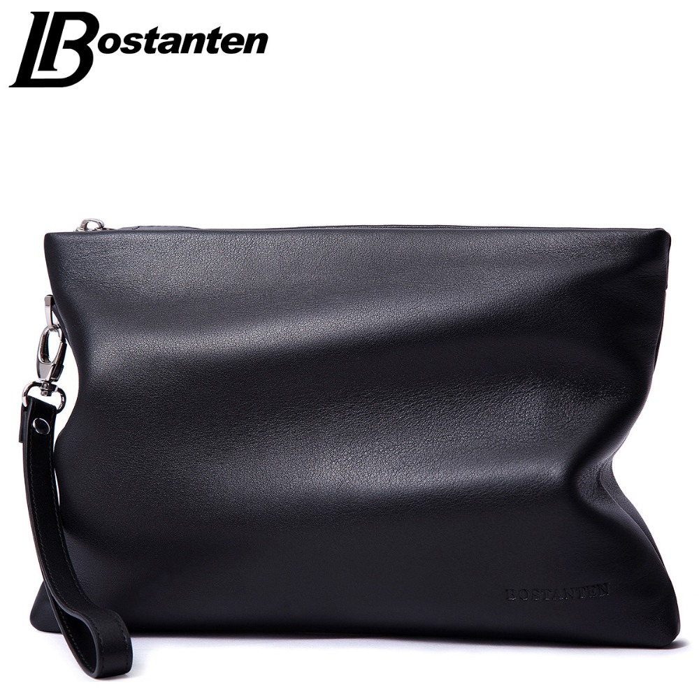 Aliexpress.com : Buy BOSTANTEN Brand Soft Cow Genuine Leather Men ...