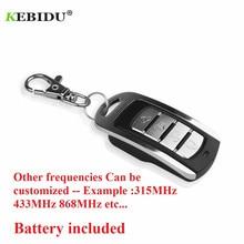 KEBIDU Universal 433MHz Wireless 4 Keys Copy Cloning Garage Door Remote Control Duplicator Key for PT/SC/LX/HX/HT