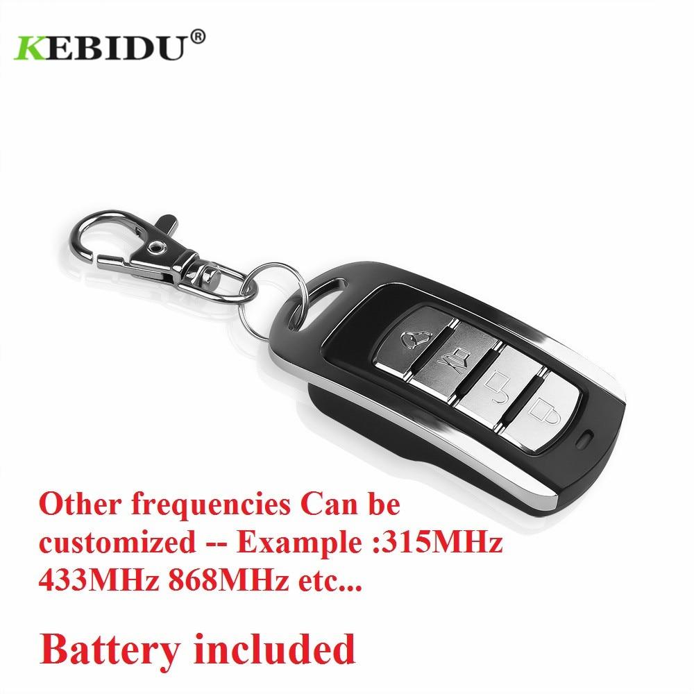 Kebidu universal 433 mhz sem fio 4 chaves copiar clonagem porta da garagem controle remoto duplicador chave para pt/sc/lx/hx/ht