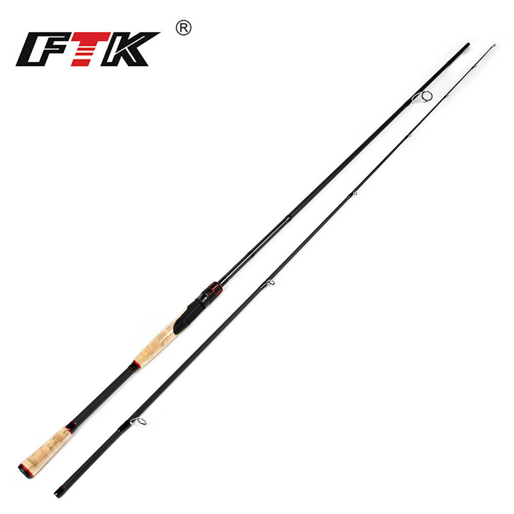 FTK Lure Fishing Rod Spinning Pole C.W. 2-8G, 3-15G, 5-20G, 10-30G Fishing Rod 2 Sections 100% Carbon Surper Hard Fishing Rod