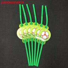 6pcs Cartoon EMOji Party Plastic Straws Supplies for Kids Birthday Decorations Disposable Drink LUHONGPARTY