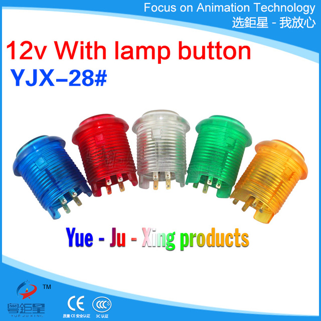 US $3 5 |Best Price 28#12V Inline Button Arcade Game Machine Micro LED  Light small buttons For Arcade Game parts-in Replacement Parts &  Accessories