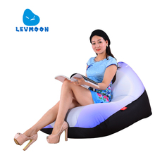 LEVMOON Beanbag Sofa Chair White Seat zac Shell Comfort Bean Bag Bed Cover Without Filler Cotton Indoor Beanbag Lounge Chair