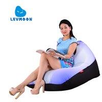Zac LEVMOON Beanbag Kanapa Krzesło Biały Seat Powłoki Worek Fasoli Pokrywa Łóżko Komfort Bez Wypełniacza Bawełna Kryty Beanbag Fotel