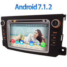 7″ Car DVD Multimedia player radio Android 7.1.2 3G/4G WIFI GPS Navigation Stereo for Benz Smart Fortwo 2011 2012 2013 2014