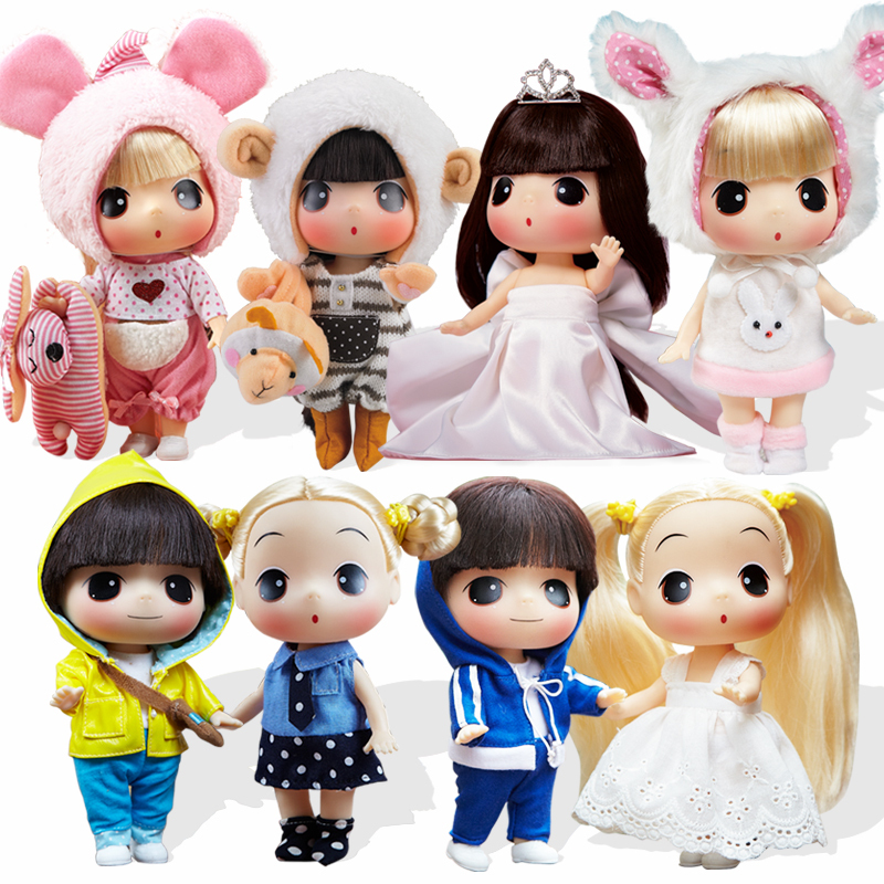 Free shipping 18CM Korea Ddung Doll with gift box Cute mini toy for girls Kids birthday holiday gift karmart cathy doll 2 in 1 vitamin c tint tinted gluta gloss pink lip korea free shipping