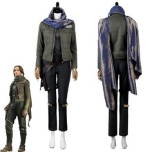 Jyn Erso Costume Rogue One A Star Wars Story Clothing Halloween Cosplay Costume Adult Women Outfit Whole Set Female Custom Made