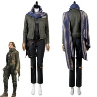 Rogue One A Star Wars Story Cosplay Costume Jyn Erso Cosplay Costume Outfit Jacket Coat Suit