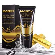 24K Gold Collagen Peel-Off Face Mask Bamboo charcoal Blackhead Remover Whitening Firming Skin Moisturizing Face Mask Skin Care