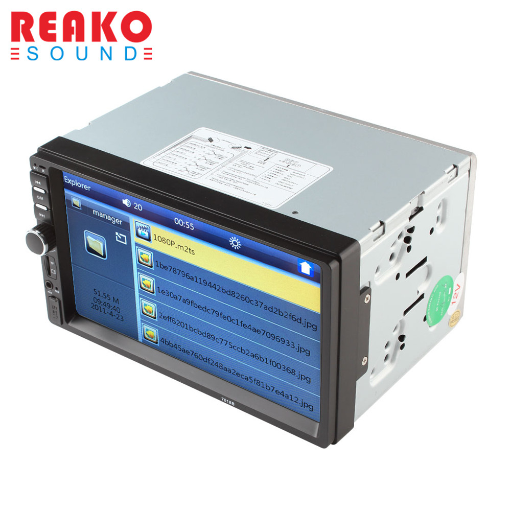 REAKOSOUND 7 Inch LCD HD Double DIN Car In Dash Touch