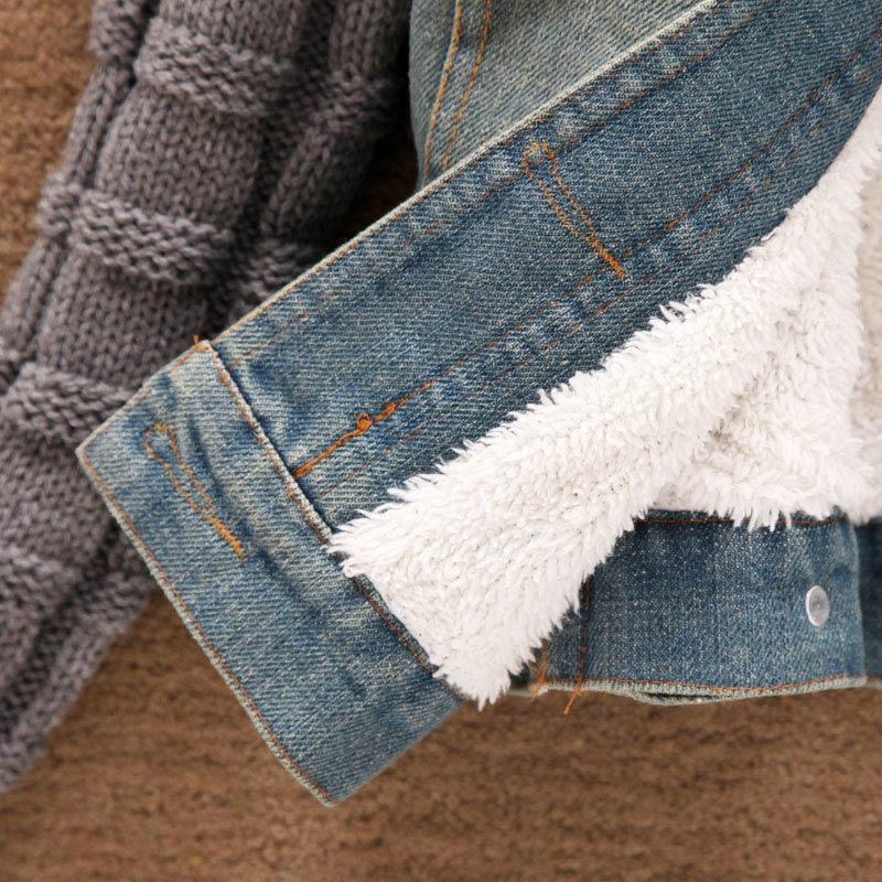 Mujeres de Invierno Otoño Pantalones Cortos de Mezclilla Delgada Chaqueta de Cu