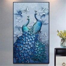 DiamondEmbroidery,China,landscape,scenery,Peacock, 5D Diamond Painting, Cross Stitch, Flower Mosaic, Decoration