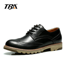 tba  fashion  men's business&dress brogue shoes for wedding  genuine leather black/brown round toe oxfords