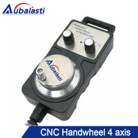 CNC Pulser Handwheel 4 Axis Pendant Hand Wheel Manual Pulse Generator MPG CNC Machine Manual Pulse Encoder Generator