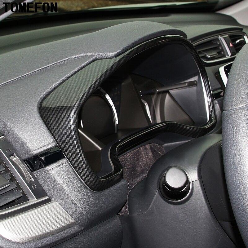 Carbon fiber look Central console cover trim 1pcs FOR HONDA CR-V CRV 2017 2018
